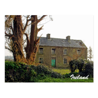 Old derelict Irish House Postcard