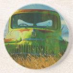 Old Derelict Vintage Truck Art Coasters