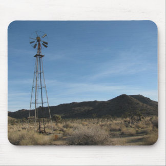 Old Desert Windmill Mouse Pad