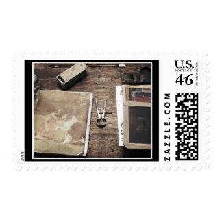 Old Desk Postage Stamp