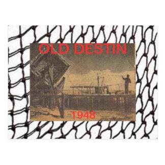 OLD DESTIN FLORIDA POSTCARD~BEN MARLER WITH NETS POSTCARD