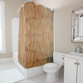 old dirty canvas shower curtain