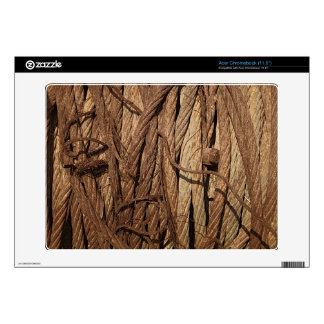 Old Dirty Rusty Industrial Steel Cables Brown Gold Acer Chromebook Skin