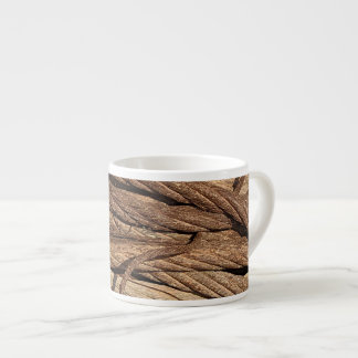 Old Dirty Rusty Industrial Steel Cables Brown Gold Espresso Cup