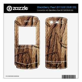 Old Dirty Rusty Industrial Steel Cables Brown Gold Skin For BlackBerry Pearl