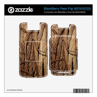 Old Dirty Rusty Industrial Steel Cables Brown Gold Decal For BlackBerry