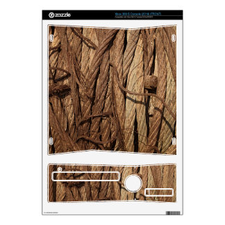 Old Dirty Rusty Industrial Steel Cables Brown Gold Xbox 360 S Console Decal