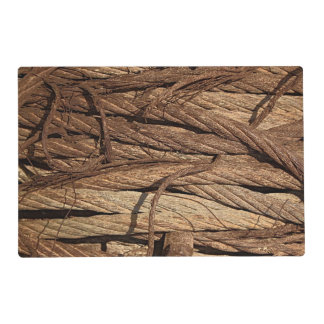 Old Dirty Rusty Industrial Steel Cables Placemat