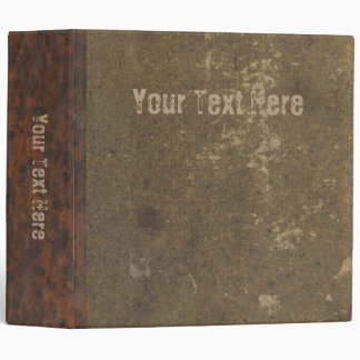 Old distressed book - faux canvas leather cover binder