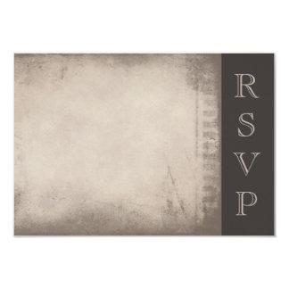 Old Distressed Paper Film Strip Motif Border RSVP Card