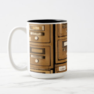 Old Disused Filing Cabinets Two-Tone Coffee Mug