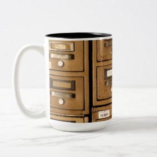 Old Disused Filing Cabinets Two-Tone Coffee Mug