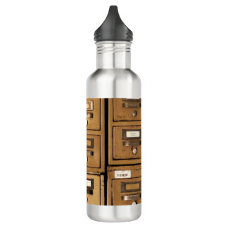 Old Disused Filing Cabinets Water Bottle