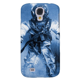 old diver with brass helmet blue color galaxy s4 cover