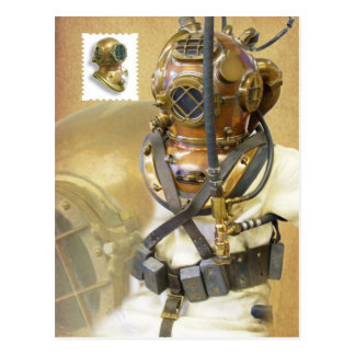Old Diving Equipment, History of Diving Museum, FL Post Card