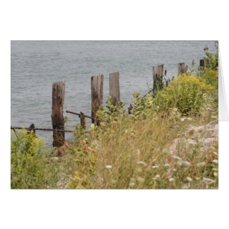 Old Docking Pillars Greeting Card