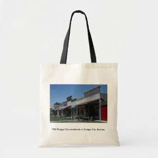 Old Dodge City storefronts in Dodge City Kansas Canvas Bags