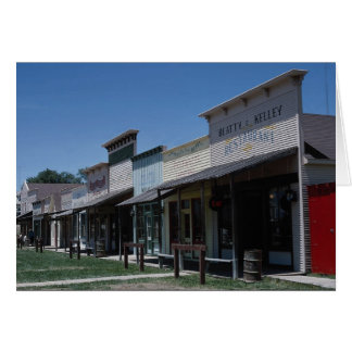 Old Dodge City storefronts in Dodge City, Kansas, Greeting Card