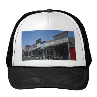 Old Dodge City storefronts in Dodge City Kansas Hats