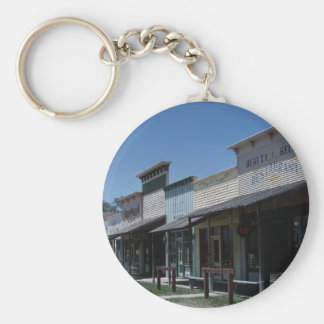 Old Dodge City storefronts in Dodge City Kansas Key Chain