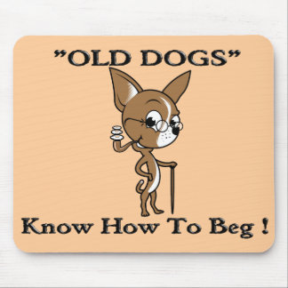 """OLD DOG"" Logo with Sayin' Mouse Pad"