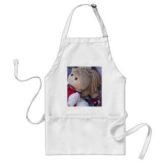 old doll adult apron