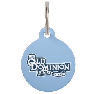 Old Dominion University - White Pet Name Tag