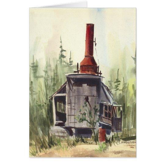 OLD DONKEY ENGINE by SHARON SHARPE Card
