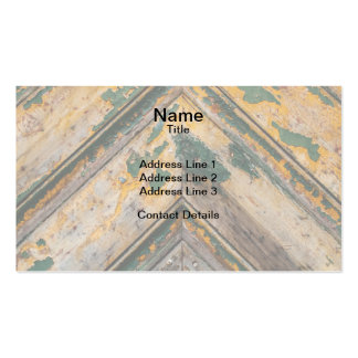 Old Door Chevron Pattern 2 Double-Sided Standard Business Cards (Pack Of 100)