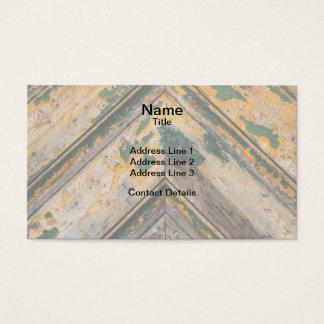 Old Door Chevron Pattern 2 Business Card