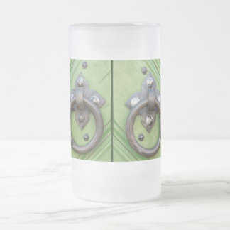 Old door frosted glass beer mug