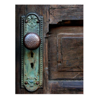 Old Door Knob - postcard
