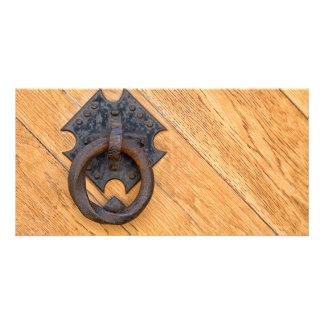 Old door knocker card