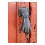 Old Door Knocker Greeting Card