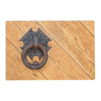 Old door knocker placemat