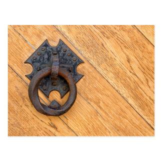 Old door knocker postcard