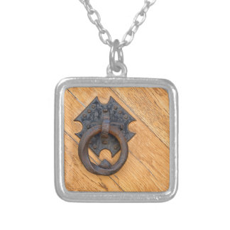 Old door knocker silver plated necklace