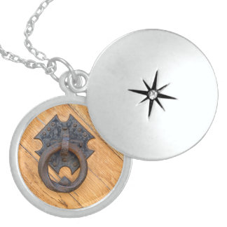 Old door knocker sterling silver necklace