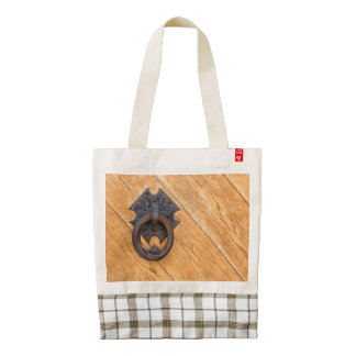 Old door knocker zazzle HEART tote bag