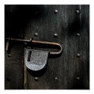 Old Door Latch Poster