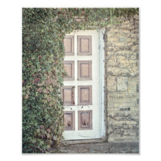 Old Door with Ivy Photography Print