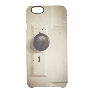 Old Door with Knob Clear iPhone 6/6S Case