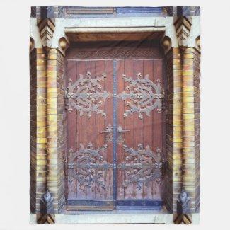 old doors fleece blanket