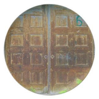old doors melamine plate