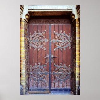 old doors print