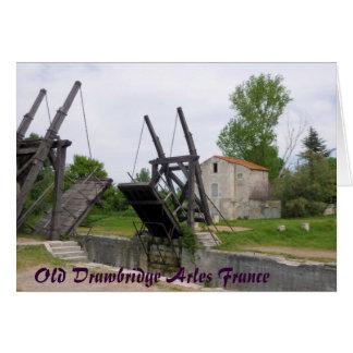 Old Drawbridge Arles France Card