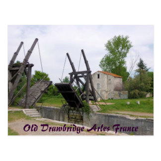Old Drawbridge Arles France Postcard