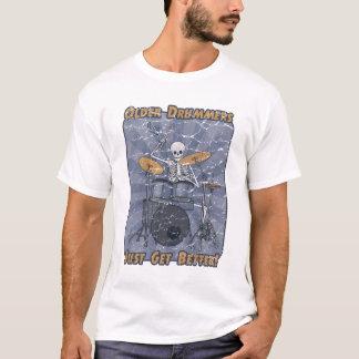 Old Drummer Skeleton T-Shirt