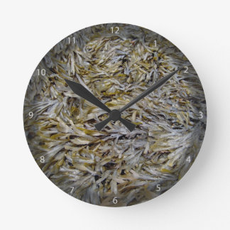 Old Dry Leaves Texture Wall Clocks