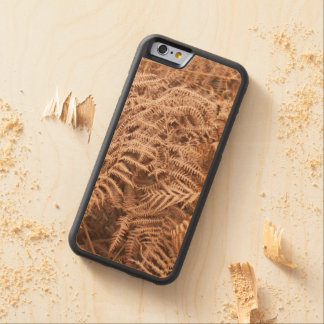 Old Dry Yellow Brown Fern - Foliage Photography Carved Maple iPhone 6 Bumper Case